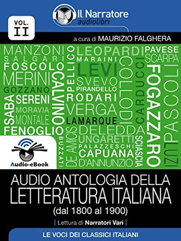 Audio antologia della Letteratura Italiana (Volume II, dal 1800 al 1900) (Audio-eBook)